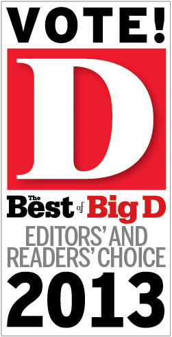 Vote For Us! The Best of Big D Reader's Choice 2013